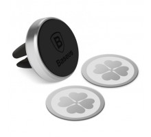 BASEUS Magnetic Air Vent Car Mount Holder with 360 Degree Rotation for Mobile Phones - Silver